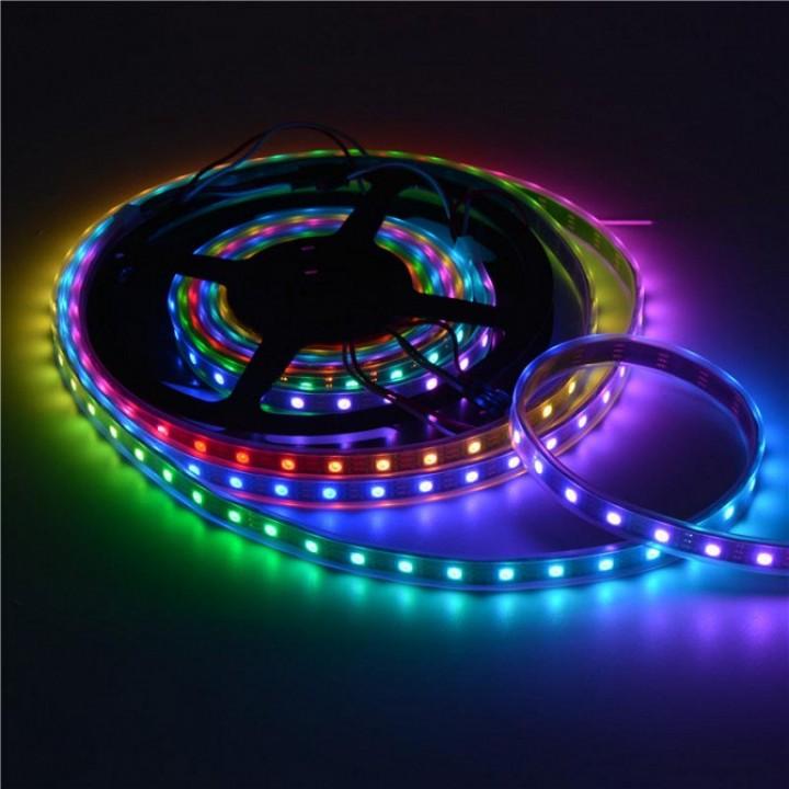 Адресная светодиодная лента WS2812В  5 ВОЛЬТ 5050 60 LED