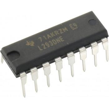 Драйвер четырехканальный L293DNE 1А с ограничительными диодами [DIP-16]