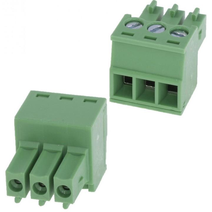 Разъемные клеммные блоки 15EDGK-3.5-03P-14-00A(H)  ( на кабель )