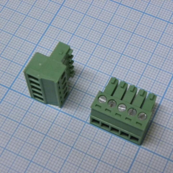 Разъемные клеммные блоки 15EDGK-3.5-05P-14-00A(H)  ( на кабель )