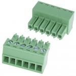 Разъемные клеммные блоки Шаг 3.5 мм ( на кабель)