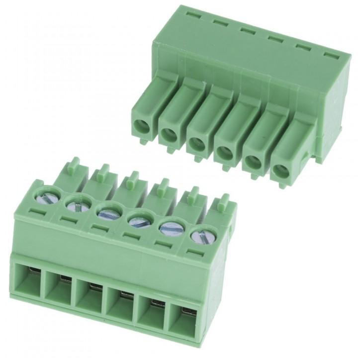 Разъемные клеммные блоки 15EDGK-3.5-06P-14-00A(H)  ( на кабель )