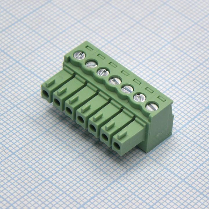 Разъемные клеммные блоки 15EDGK-3.5-07P-14-00A(H)  ( на кабель )