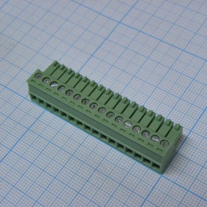 Разъемные клеммные блоки 15EDGK-3.5-16P-14-00A(H) ( на кабель )