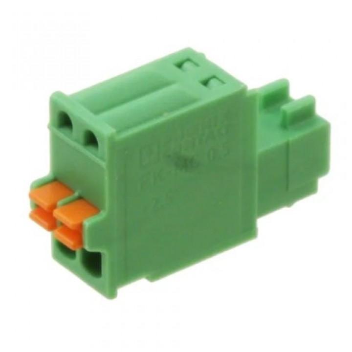 Разъемные клеммные блоки 15EDGKD-2.5-02P-14-00A(H)  ( на кабель)