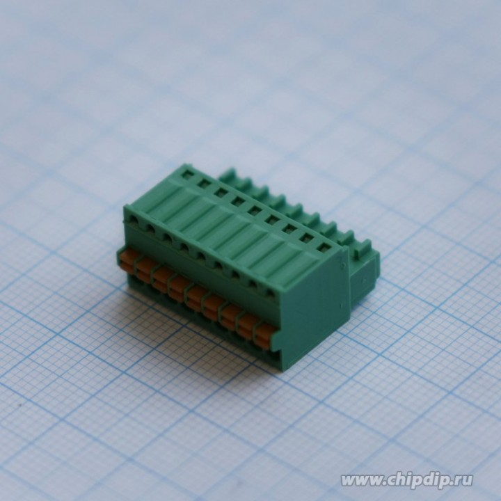 Разъемные клеммные блоки 15EDGKD-2.5-09P-14-00A(H)  ( на кабель)