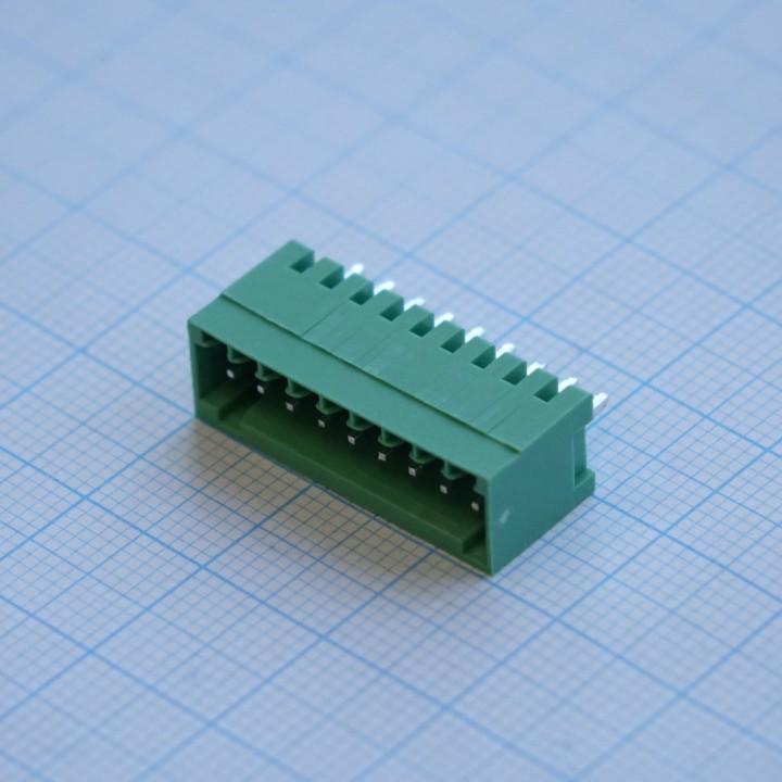 Разъемные клеммные блоки  15EDGVC-2.5-09P-14-00A(H)   ( на плату )