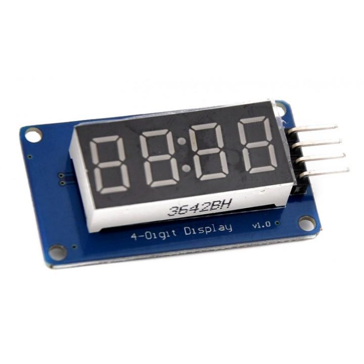 Модуль семи сегментного индикатора на 4 цифры