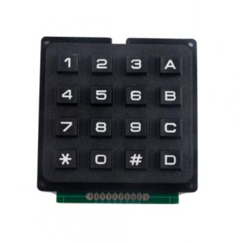 Клавиатура матричная черная numpad + ABCD, 16 кнопок, 4x4