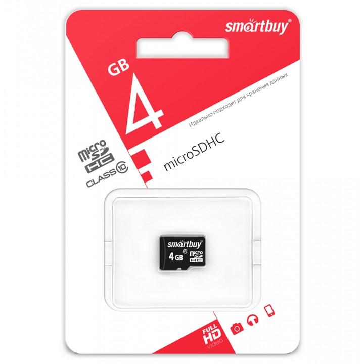 Карта памяти 4GB Smartbuy MicroSDHC Class 10