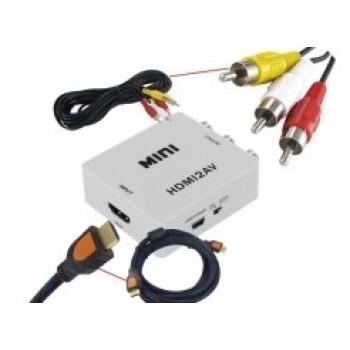 Конвертер, переходник HDMI - AV (Тюльпаны)