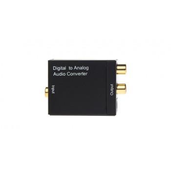Аудио конвертер  S/PDIF(coaxil + Toslink) to RCA (analog)