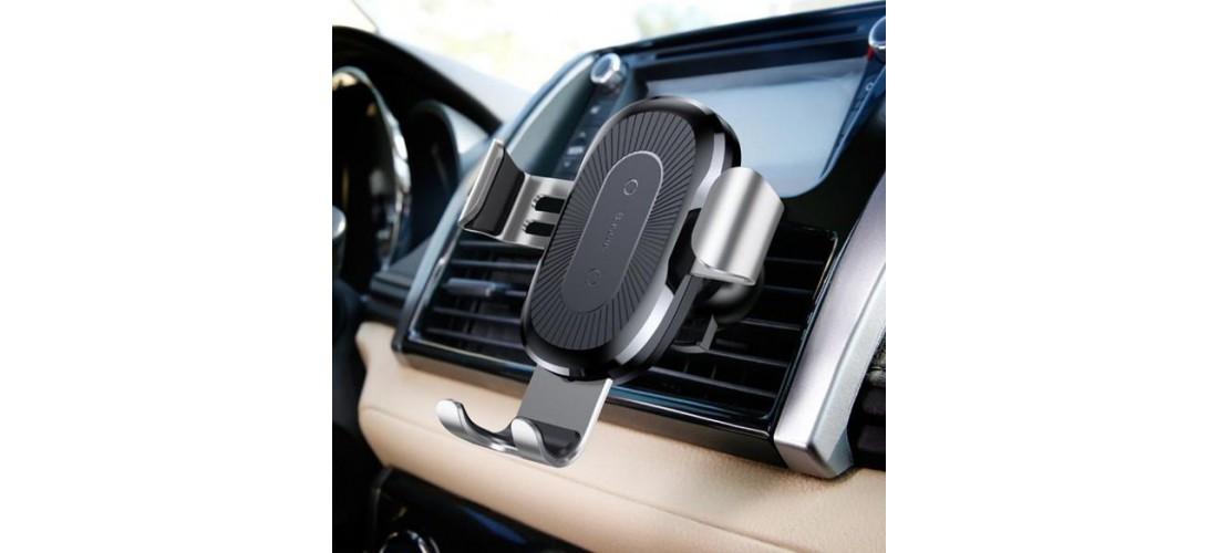 Беспроводная зарядка + держатель в автомобиль