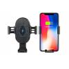 Автомобильный держатель для телефона в дефлектор + беспроводная зарядка Qi Wireless  Car Mount