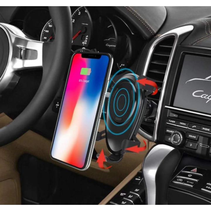 Держатель для телефона - беспроводная зарядка в автомобиль wireless charger car mounth