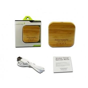 Беспроводное зарядное устройство с деревянным корпусом Fantasy