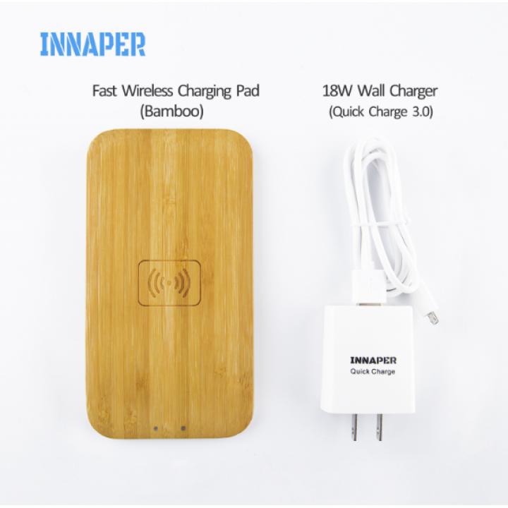 Беспроводная зарядка  Wireless Charger Bamboo