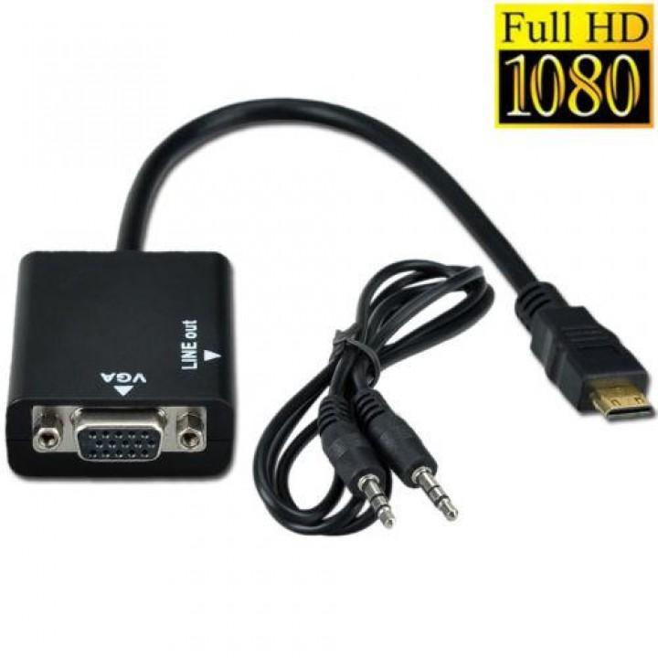 Видео конвертер, переходник mini HDMI to VGA + audio выход на 3.5 jack