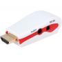 Переходник - адаптер из HDMI в VGA + audio(3.5 jack)