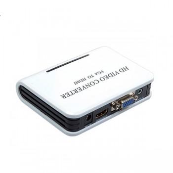 Переходник VGA - HDMI + audio (питание от сети 220v)