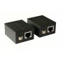 Удлинитель, усилитель сигнала VGA, репитер,  + звук до 60 м по витой паре (патч-корд RJ45)
