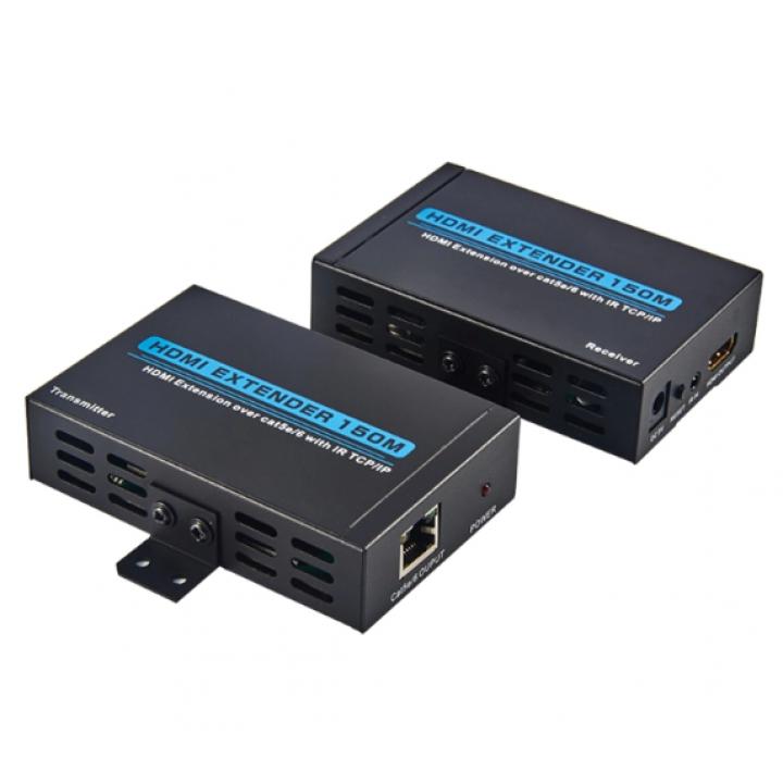 """HDMI удлинитель сигнала на расстояние 150 метров по кабелю CAT 5E\6 - """"витая пара"""""""